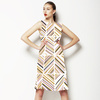 Geometric Chevron Placement (Dress)