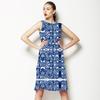 Navy Bohemian Kaleidoscopic Print (Dress)