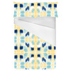 Simple Painterly Pattern in Yellow and Blue (Bed)