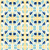 Simple Painterly Pattern in Yellow and Blue (Original)