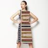 Unique Encaustic Mirrored Stripes and Checks (Dress)