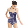 Handpainted Indigo Tile (Swimsuit)
