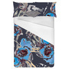 Dark Blue Winter Floral (Bed)