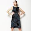 60s Floral Black (Dress)