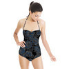 60s Floral Black (Swimsuit)