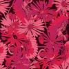 Floral Linear Daisies Magenta (Original)