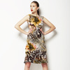 Leopard Skins With Gold Flower (Dress)