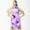 Pink and Blue Painted Flowers (Dress)