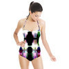 Pixellation Carousel Tendons Catch Stained Glass Light (Swimsuit)