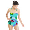 Pastel Abstract Turq (Swimsuit)