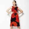 Poppy Flowers on Black (Dress)
