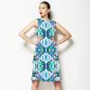 Ikat Lime Blue Hues (Dress)