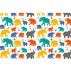 Colorful & Cheerful Elephant Pattern (Original)