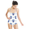 Hand Drawn Indigo Baroque Pattern in Repeat Pattern (Swimsuit)