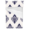 Baroque Floral Repeating Vector Pattern in Navy (Bed)