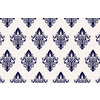 Baroque Floral Repeating Vector Pattern in Navy (Original)