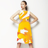 Abstract Yellow Shapes Pattern (Dress)