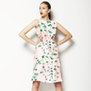 Hand Painted Watercolour Green Blossom (Dress)