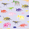 Multicolor Pattern With Dinosaurs and Mammoth (Original)