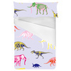 Multicolor Pattern With Dinosaurs and Mammoth (Bed)