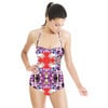 Geometric and Floral (Swimsuit)