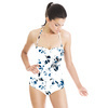 Seamless Abstract Blue White Inspired Floral Textile (Swimsuit)