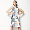 Seamless Irregular Geometric Abstrac Floral Textile (Dress)