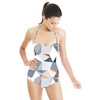 Seamless Irregular Geometric Abstrac Floral Textile (Swimsuit)
