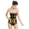Yellow Tribal Hybrid Print (Swimsuit)
