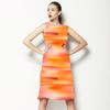 Motion Blur Orange/Magenta Brushstrokes (Dress)