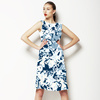 Abstract Indigo Floral (Dress)