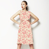 Pink Floral Daisy, All Over, Scattered Design (Dress)