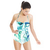 Marbling Paper Pattern Green & Blue (Swimsuit)