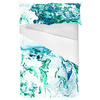 Marbling Paper Pattern Green & Blue (Bed)
