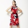 Red and Black Floral Bloom (Dress)