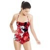 Red and Black Floral Bloom (Swimsuit)