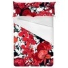 Red and Black Floral Bloom (Bed)