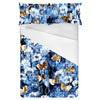 Denim Textured Floral Butterfly Print (Bed)