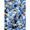 Denim Textured Floral Butterfly Print (Original)