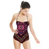 Mysterious Florals No2 Floral Pattern Inspired by Folk Art and Geometric Shape (Swimsuit)