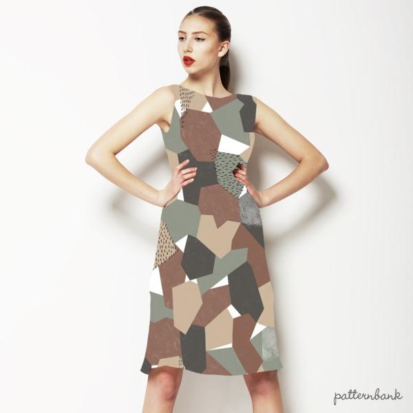 Geometric Camouflage Seamless Pattern Design