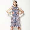 Tribal in Blue (Dress)