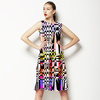 Abstract Checkered (Dress)