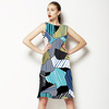580 Geo Camo Stripes Print (Dress)
