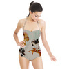 579 Drawn and Photo Flowers Print (Swimsuit)