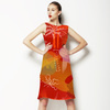 Crimson Florals (Dress)