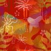 Crimson Florals (Original)