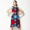 Blue and Red Ethnic Pattern (Dress)