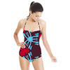 Blue and Red Ethnic Pattern (Swimsuit)