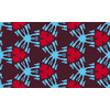 Blue and Red Ethnic Pattern (Original)